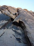 Rock Climbing Photo: Great off width climb to the small roof