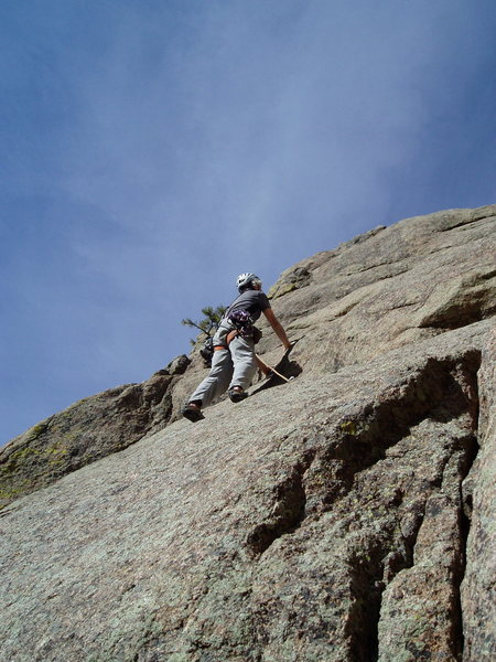 Rock Climbing Photo: As might be guessed from this photo, this climb is...