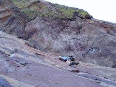 Rock Climbing Photo: Finishing the traverse.