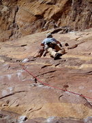 Rock Climbing Photo: Exiting the flake is still hard. A couple of finge...