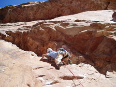 Rock Climbing Photo: The crawl.