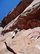 Rock Climbing Photo: The split.
