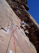 Rock Climbing Photo: The move past the second bolt is one of the severa...
