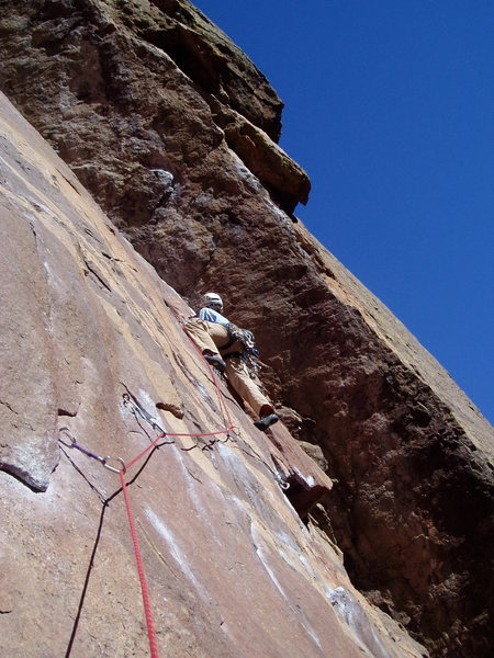 Rock Climbing Photo: Moving left to the midway anchors and beyond to th...