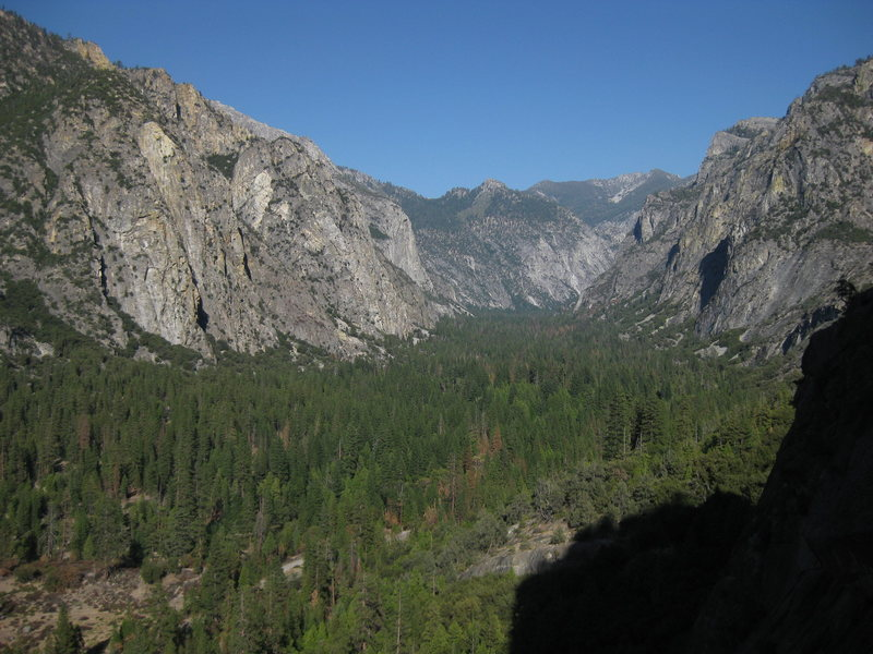 Rock Climbing Photo: Looking East up Kings Canyon