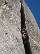 Rock Climbing Photo: Pitch2:  chimney  Photo by Gary Carpenter