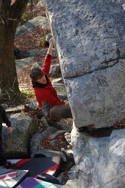 Rock Climbing Photo: Chris on the Raptor. Photo Aaron K.