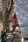 Rock Climbing Photo: Chris running laps. Photo Aaron K.