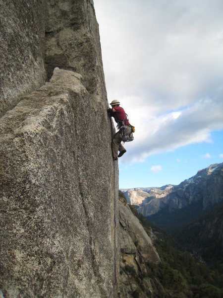 Pitch 3 of Center route<br> <br>  Photo by Gary Carpenter