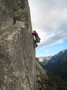 Rock Climbing Photo: Pitch 3 of Center route   Photo by Gary Carpenter