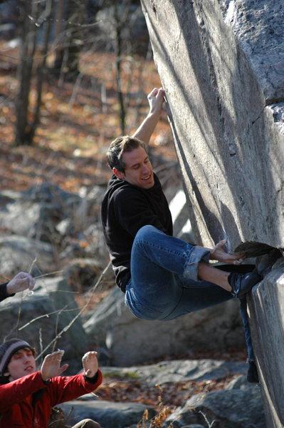 Rock Climbing Photo: Aaron repeating the Raptor.