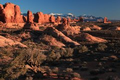 Rock Climbing Photo: Sunset in Arches NP...  Photo Credit: Harlan Humph...