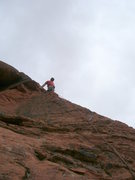 Rock Climbing Photo: The 2nd pitches. Looking down from here is excitin...
