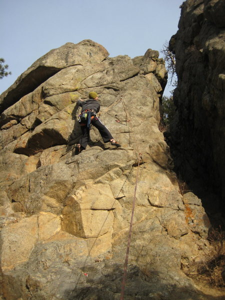 Rock Climbing Photo: Attempting [What's Mine is Yours].