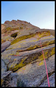 Rock Climbing Photo: 120' of thin-face goodness on that rock. Go on, dr...