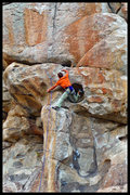 Rock Climbing Photo: Perplexing footwork on this one...  Pic by grk