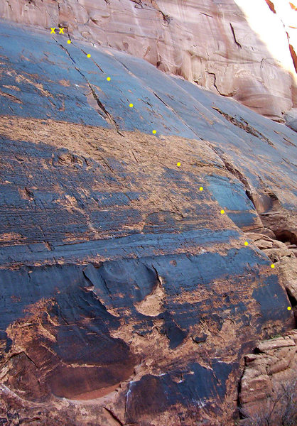 Rock Climbing Photo: Crack 2 splits wolverine (right) and Crack 3 (left...