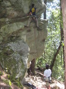 Rock Climbing Photo: Ben Karin getting non-kosher on Pigs Feet (5.10b)....