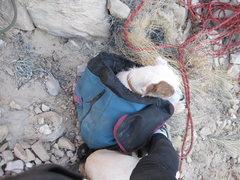 Rock Climbing Photo: Keeping warm in the November shade