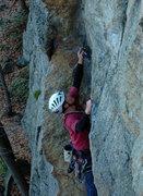 Rock Climbing Photo: In the crux corner.  Photo by Darek Kuczynski.