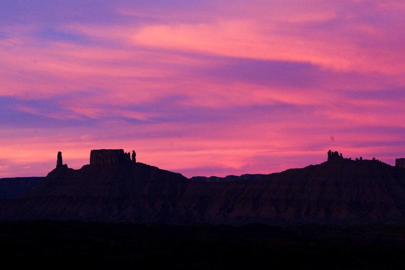 Castle Ridge in Castle Valley, Utah.