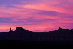 Rock Climbing Photo: Castle Ridge in Castle Valley, Utah.