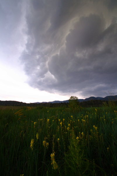 Storm clouds above Ute Valley Park in southern Colorado.