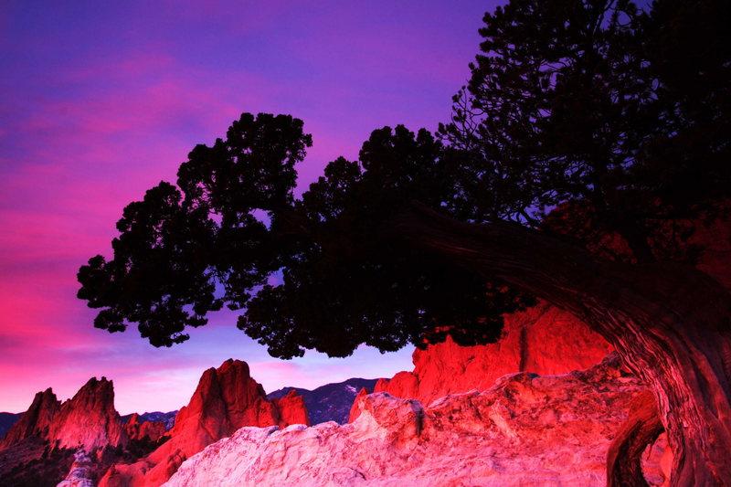 Rock Climbing Photo: Sunrise at the Garden of the Gods, Colorado.