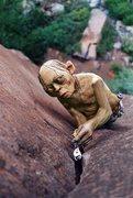Rock Climbing Photo: gollum on lead