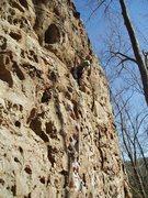 Rock Climbing Photo: A. Rothman leading Sunshine on a great sunny fall ...