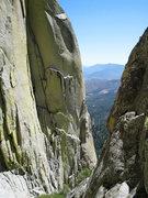 Rock Climbing Photo: Starting up The Sarcophagus.