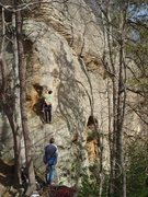 Rock Climbing Photo: A. Rothman preparing to tackle Captain One Eye. Be...