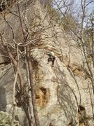 Rock Climbing Photo: A. Rothman on Captain One Eye