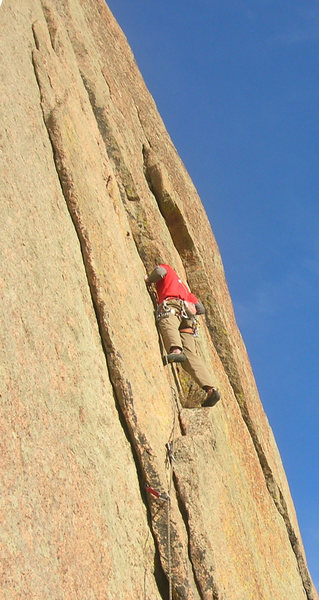 Rock Climbing Photo: In the first 5.10 section, it gets a little spicy ...