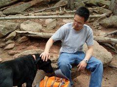Rock Climbing Photo: Taking a break on Chautaqua.