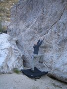 Rock Climbing Photo: Goes straight up, no clue on the grade.