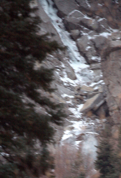Rock Climbing Photo: Crop showing the lower section