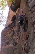 Rock Climbing Photo: A stimulating lead.