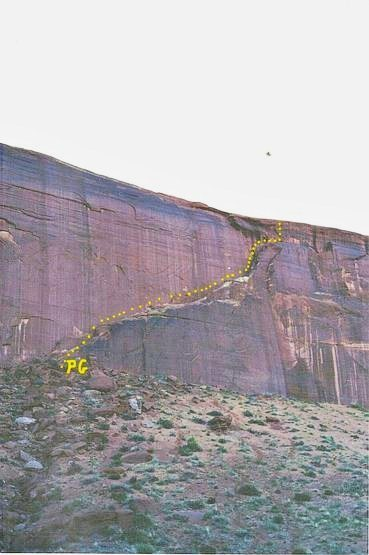 The climb . Situated in the center section of the Butte.
