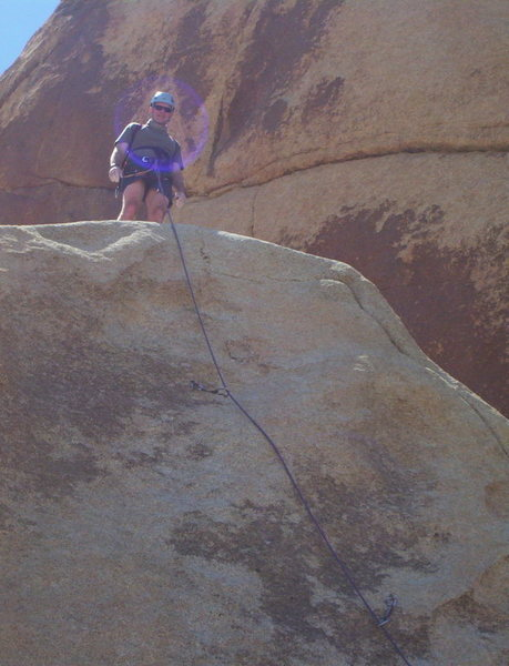Grant Lowe on Noriega does Panama 5.10a<br> My first trip to Jtree.