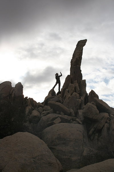 Rock Climbing Photo: me an my nemessis Aguille de Joshua Tree...to date...