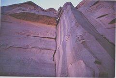 Rock Climbing Photo: At the overhang P1