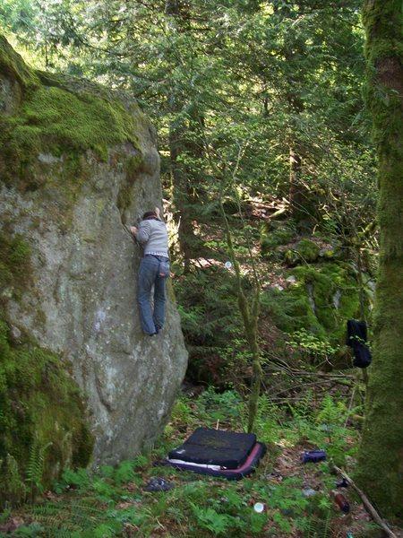 Rock Climbing Photo: Brett on No Baditudes.