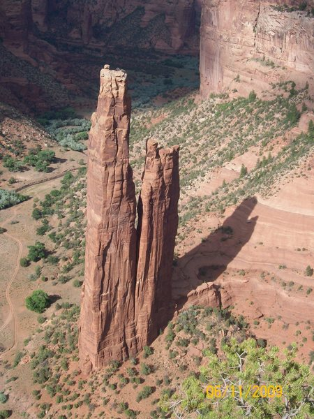 Rock Climbing Photo: Spider Rock from South Rim Overlook
