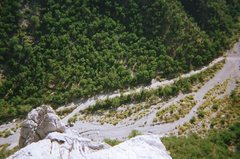 Rock Climbing Photo: Road from top of The Spires