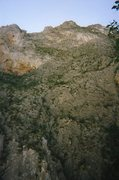 Rock Climbing Photo: View of Upper Virgin Canyon. Manny is on the cliff...