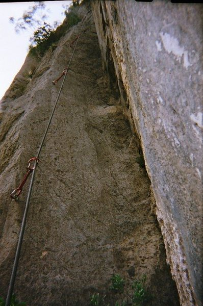Rock Climbing Photo: Gary taking a picture of Matt's 5.10 7th pitch on ...
