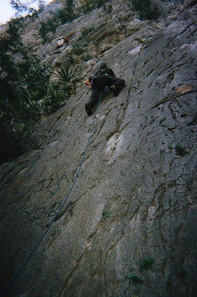 Matt Leading on the Cat Wall
