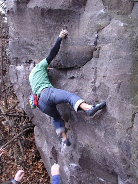 Rock Climbing Photo: Near the finish during the send.