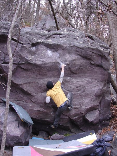 Rock Climbing Photo: Dobbe giving it a December burn.